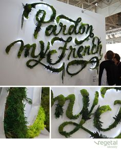 PARDON MY FRENCH Designed by Vegetal Identity.  | (re)Pinned by Storyplanter