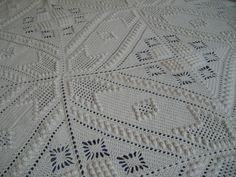 "My next bedspread will be made from this old pattern is named ""Popcorn Square"" from the crochet booklet known by ""Bucilla Hand Crocheted Bedspreads – Vol. 71"" Dated 1933."