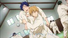 aw *-* rei and nagisa doing judo