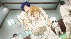 aw *-* rei and nagisa doing judo