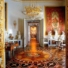Empress-Maria-Feodorovna's-library, 18th century Pavlovsk Palace, now a public museum and Park near Saint Petersburg, Russia.