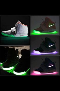 904be99016d9 Light up Nikes for adults! Shoe Nails