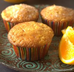 These fresh Orange Muffins are made with orange Zest and freshly squeezed orange juice. This is as orangy an orange muffin can get Muffin Tin Recipes, Baking Recipes, Cookie Recipes, Dessert Recipes, Pineapple Muffins, Orange Muffins, Orange Cupcakes, Mini Desserts, Orange Recipes