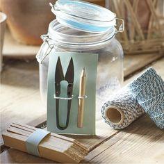 SOPHIE CONRAN   Gardener's Jar - Blue   GSC/JARBLUE Sophie Conran, Garden Gifts, Garden Accessories, Garden Styles, Stores, Potted Plants, Water Bottle, Jar, Blue