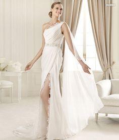 one shoulder grecian wedding dress - Google Search