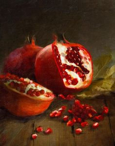 Pomegranates by Robert Papp - oils