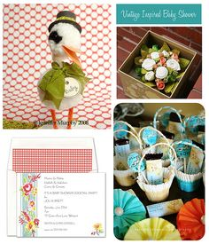 Vintage Inspired Baby Shower by finestationery, via Flickr