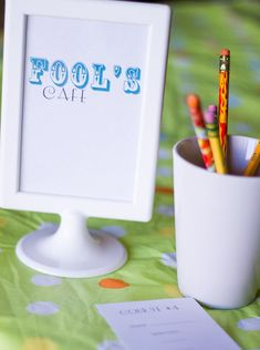 April Fools Cafe. Printable menus and plan for a crazy-mixed up April Fools Day meal.