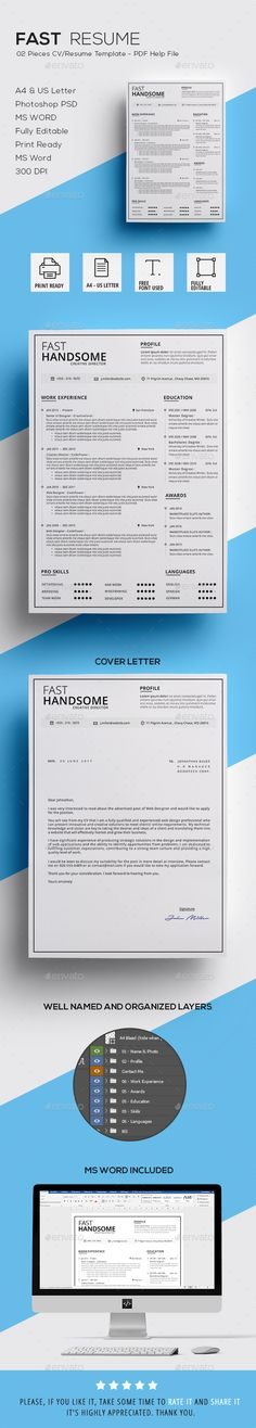 Fast Resume - #Resumes Stationery Download Here: https://graphicriver.net/item/fast-resume/19997622?ref=suz_562geid