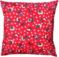 "Cushion Cover Red Seasonal Christmas Design Handmade 16"" x 16"" Scatter PIllow £4.95"