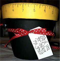 Cute Flower Pot Teacher Appreciation Gift Idea