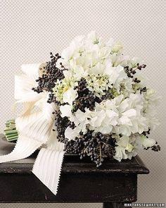 Black and white flowers. Follow us on Instagram @ bridemagazine #wedding #inspiration #weddingideas