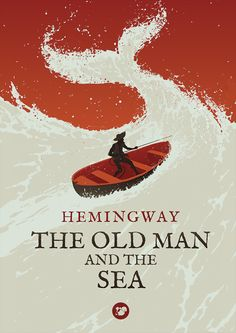 The Old Man And The Sea by Levente Szabo-cover-books-design-illustrations poster 20 Beautiful and Creative Book Covers
