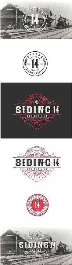 Siding 14 Brewing Company logo. Beer brewery lo... Elegant, Playful Logo Design by roman.free