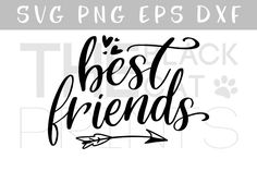 Best friends SVG DXF PNG EPS by TheBlackCatPrints available for $3.00 at DesignBundles.net