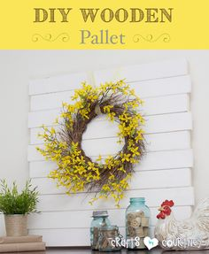 Easy-to Make DIY Wooden Pallet Mantle Centerpiece