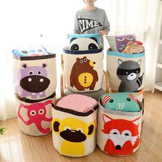 Cartoon Animal Design Home Clothes Childen Toys Storage Box Pouch Zipper Bag…