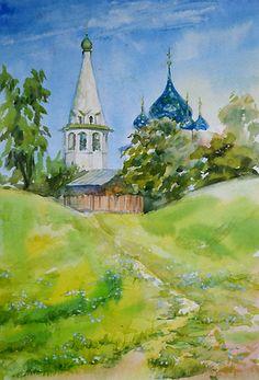 Городской пейзаж акварелью Watercolor, Painting, Life, Sketch, Art, Pen And Wash, Sketch Drawing, Art Background, Watercolor Painting