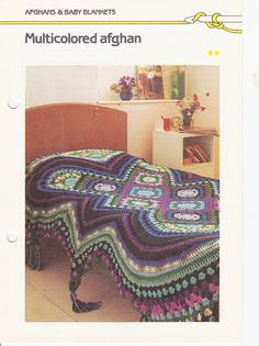 Vintage Crochet Afghan Pattern by EclectionsGifts on Etsy, $5.50