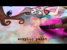 Mixed Media and Resin Art Demo by Tamara Haddon at Art Shed Brisbane - YouTube