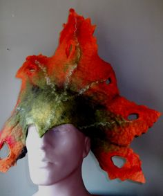 Felted Leaf Hat by canalleart on Etsy, $135.00