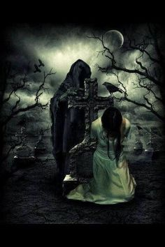 Death waits patiently, knowing grief will drive her to him.