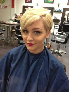 adorable long pixie cut
