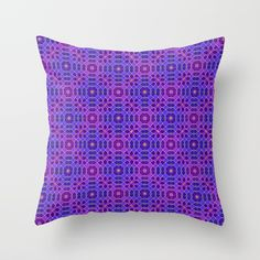 PURPLE PANACHE PATTERN by Peter Gross  Throw Pillow made from 100% spun polyester poplin fabric, a stylish statement that will liven up any room. Individually cut and sewn by hand, each pillow features a double-sided print and is finished with a concealed zipper for ease of care.  Sold with or without faux down pillow insert.
