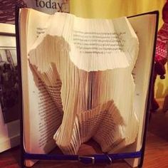 Book folding pattern for a...