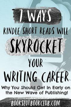 books - 7 Ways Kindle Short Reads Will Skyrocket Your Writing Career Book Slut Book Club Fiction Writing, Writing Advice, Writing A Book, Writing Prompts, Editing Writing, Writing Resources, Writing Images, Persuasive Writing, Blog Writing