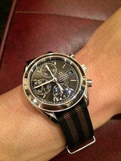 Omega Speedmaster with Morellato Leather Band