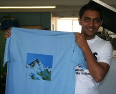 Sev with his mountain t-shirt