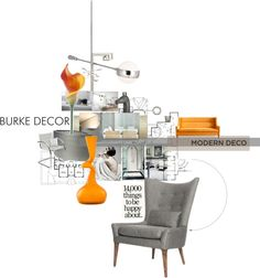 """""""Modern Deco With Burke Decor"""" by sharmarie on Polyvore"""
