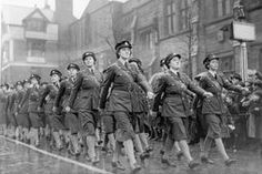 Britain at War (WW2): WAAF on a march past
