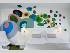 Hotel Bloom Brussels, Belgium - Prestige Property Rooms painted by 287 young artists from different countries in Europe