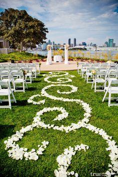 Actual ceremony backdrop