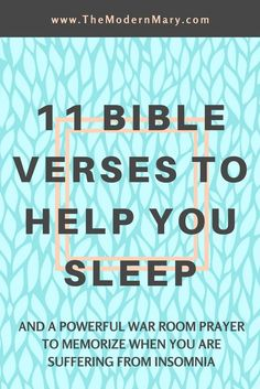11 powerful Bible scripture verses to help you when you can't sleep. Plus a free printable war room prayer! #warroomprayer #bibleverse #warroom