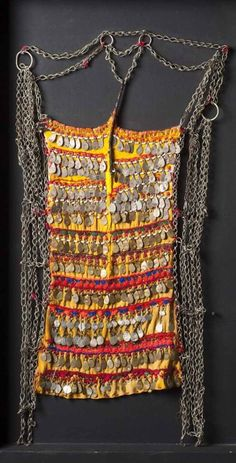 Egypt | Face veil; textiles and metal.  Siwa Oasis | Est. 150-180€ ~ Mar '15