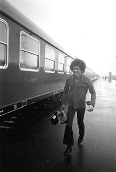 Last Train Coming: Rare Photographs of Jimi Hendrix Coming for the Final Concert Performance at the Isle of Fehmarn in Germany, 1970 ~ vintage everyday Good Music, My Music, Music Life, Rock N Roll, Hey Joe, Blues, Jimi Hendrix Experience, Music Icon, Led Zeppelin