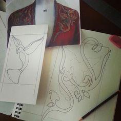 Blocking design for hand embroidery www.fadendesignstudios.com  #fashion…