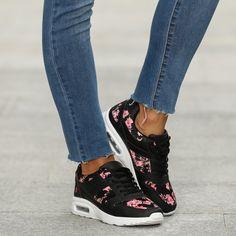 Floraler Sneaker mit Luftkissenelement