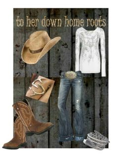 Country outfit. Love the ring!!