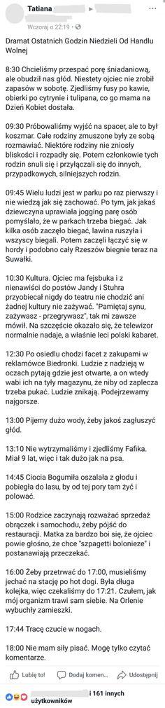 Repostuj.pl - 79 | Relacja z pierwszej niedzieli bez handlu Wtf Funny, Funny Memes, Polish Memes, Funny Life, Life Humor, Funny Things, Lol, Poster, Funny Stuff