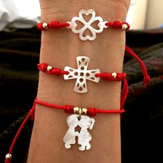 Set By Vila Veloni Red And Lovely Charm Bracelets