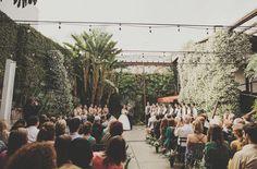 Stylish Marvimon House Wedding: Raqel + Madison_Photo by Logan Cole