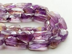 Ametrine Beads Ametrine Step Cut Tumbles Ametrine by gemsforjewels