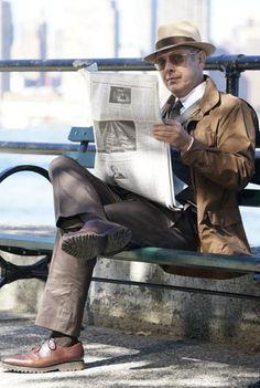 Raymond Reddington wearing  Stetson The Broadway by Biltmore, Loro Piana Windmate Storm System Jacket