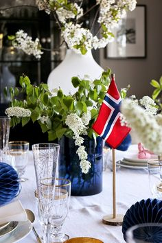 Constitution Day, Spring Sign, White White, More Pictures, Branches, Norway, Napkins, Cherry