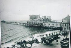 Bognor Pier and Bathing Machines. Bognor Regis, Old Images, Bathing, Past, Louvre, England, Child, Sea, Building