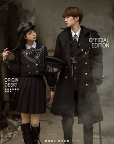 LolitaWardtobe - Bring You the latest Lolita dresses, coats, shoes, bags etc from Trustworthy Taobao indie Brands. We never resell Lolita items from untrustworthy Taobao stores. Couple Outfits, Edgy Outfits, Scene Outfits, Old Fashion Dresses, Fashion Outfits, Fashion Shirts, Military Fashion, Military Inspired Fashion, Military Clothing